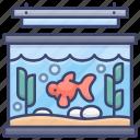 aquarium, fish, goldfish, tank icon