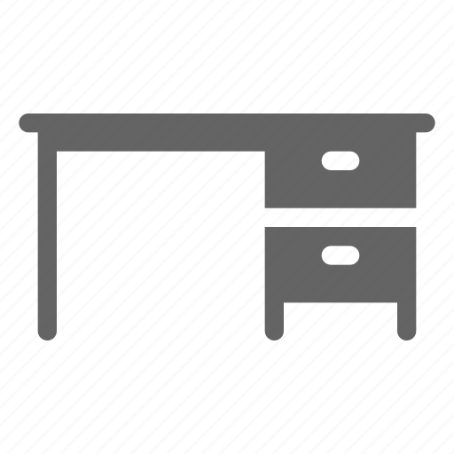 desk, office, table icon