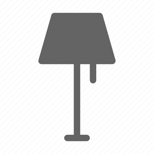lamp, light, table icon
