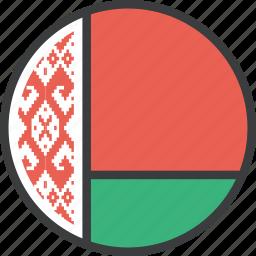 belarus, country, european, flag, national icon
