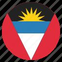 national, flag, barbuda, antigua icon