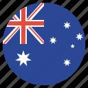 aussie, australia, australian, flag icon