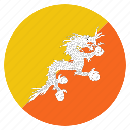 bhutan, bhutanese, country, flag, national icon