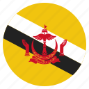 brunei, country, flag