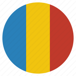 chad, country, flag, national icon
