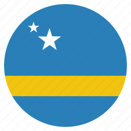 country, curacao, flag, national icon