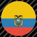 country, ecuador, flag