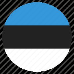 country, estonia, estonian, flag, national icon
