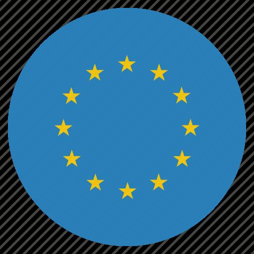 circle, eu, european, flag, union icon