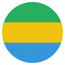 country, flag, gabon, gabonese, national icon