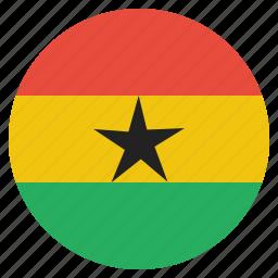 country, flag, ghana, national icon