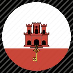 country, flag, gibraltar, national icon