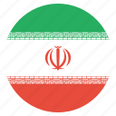 country, flag, iran, iranian icon