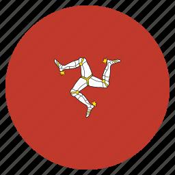 flag, isle, man, of icon