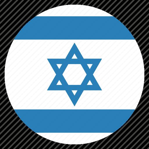 country, flag, israel, israeli icon