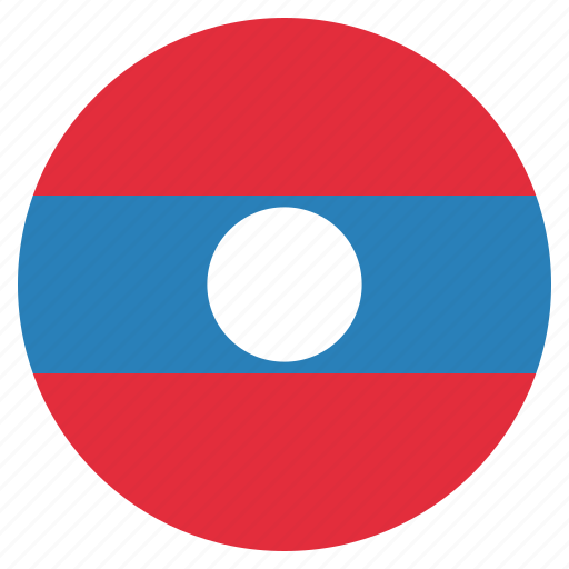 country, flag, laos, national icon
