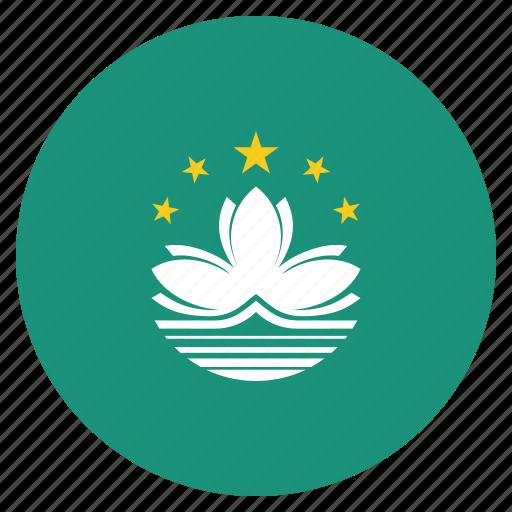 country, flag, macau, national icon