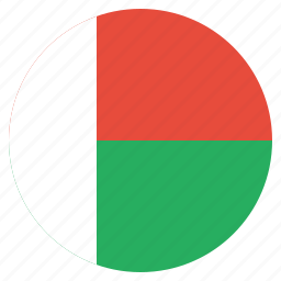 country, flag, madagascar, national icon