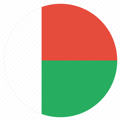 country, flag, madagascar, national icon