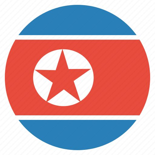 country, flag, korean, north korea icon