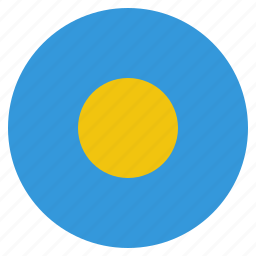 country, flag, national, palau icon
