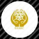 asean, flag, saarc, south east icon