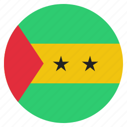 and, country, flag, national, principe, sao, tome icon
