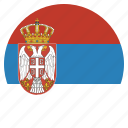 country, flag, serbia, serbian icon