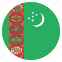 country, flag, national, turkmenistan icon