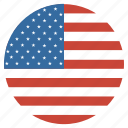 america, circle, flag, states, united, usa icon