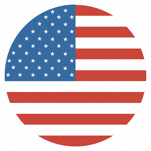 america, circle, flag, states, united, usa icon
