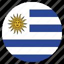 country, flag, uruguay, uruguayan