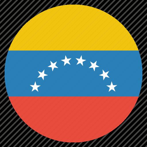 country, flag, national, venezuela, venezuelan icon
