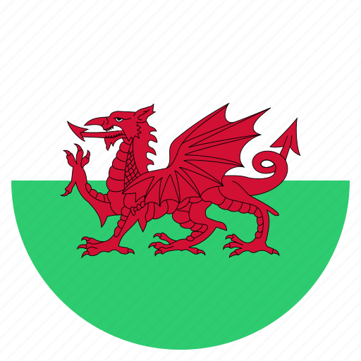 country, flag, national, wales icon