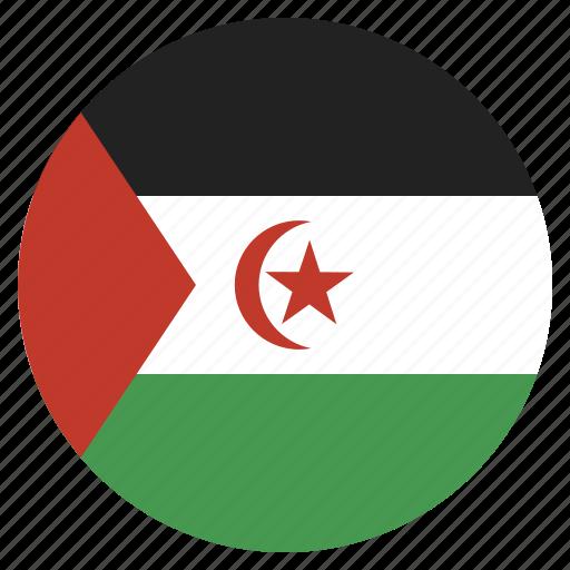 country, flag, national, sahara, western icon