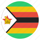 country, flag, national, rhodesia, zimbabwe icon