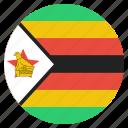 country, flag, rhodesia, zimbabwe