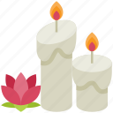 candles, relaxation, lotus, yoga, exercise, relax, meditation