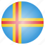 aland, country, flag, national icon