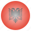 albania, albanian, country, flag, national icon