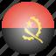 angola, country, flag, national icon