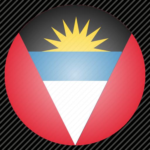antigua, barbuda, country, flag, national icon