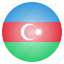 azerbaijan, country, flag, national icon