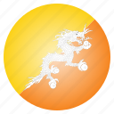 bhutan, bhutanese, country, flag icon
