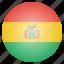 bolivia, bolivian, country, flag, national icon