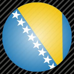 bosnia, country, flag, herzegovina, national icon