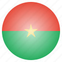 burkina, country, faso, flag, national icon