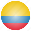 colombia, colombian, country, flag, national icon