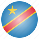 congo, country, democratic, flag, national icon