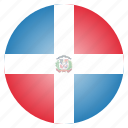 country, dominican, flag, republic
